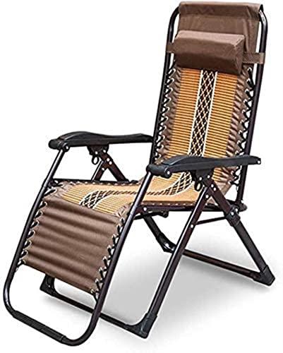 ZXLRH Silla Plegable balcón Silla de Playa Respaldo sillón Oficina en casa Ocio Siesta Silla terraza jardín al Aire Libre (Color: B)