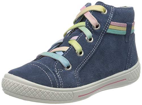 Superfit Mädchen Tensy Hohe Sneaker, Blau (Blau 80), 35 EU