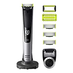 Trim, Edge, Shave For Any Length of Hair 14-length Precision Comb Rechargeable, Wet & Dry Use Includes Face and Body Kit & 3 Extra Blades
