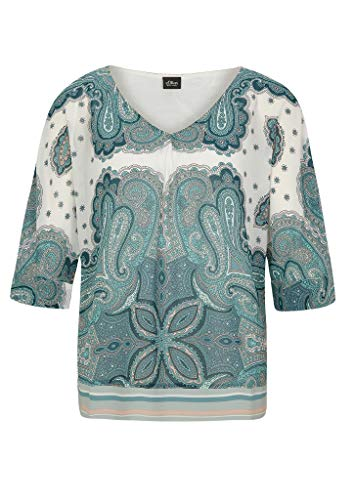 s.Oliver BLACK LABEL Damen 150.10.004.10.100.2039374 Bluse, Cream Paisley Print, 42