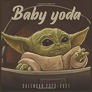 Baby Yoda 2021 Wall Calendar: 18-month calendar The Child, Star Wars The Mandalorian 2021