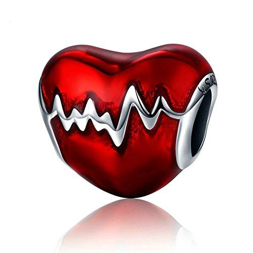 Heartbeat Hot Sale 925 Sterling Zilver Heartbeat Kralen Fit Originele WST Charm Armband DIY Sieraden Gift CQC249
