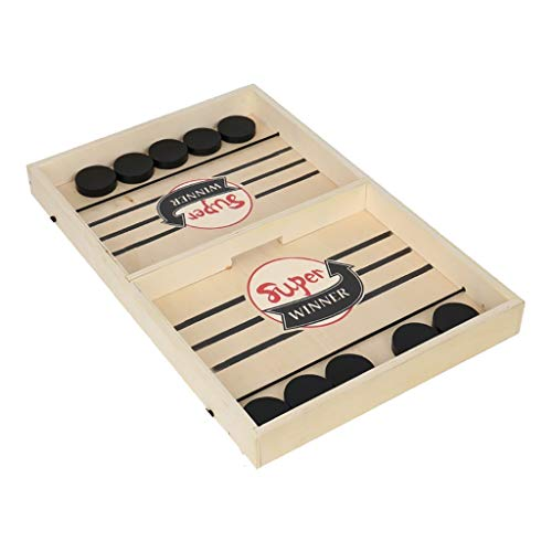 Find Discount JKRED Head to Head Wooden Desktop Hockey Table Game for Kids and Adults, Portable Air ...