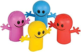 Rhode Island Novelty Smile Finger Puppets Assorted Colors 48 Pieces