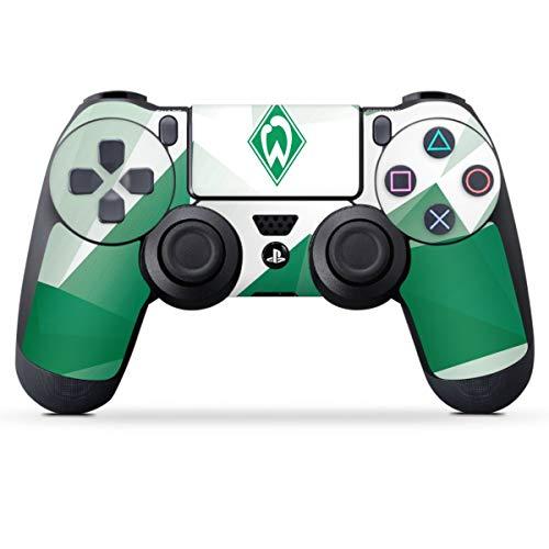 DeinDesign Skin kompatibel mit Sony Playstation 4 PS4 Controller Folie Sticker SV Werder Bremen Tarnmuster Offizielles Lizenzprodukt
