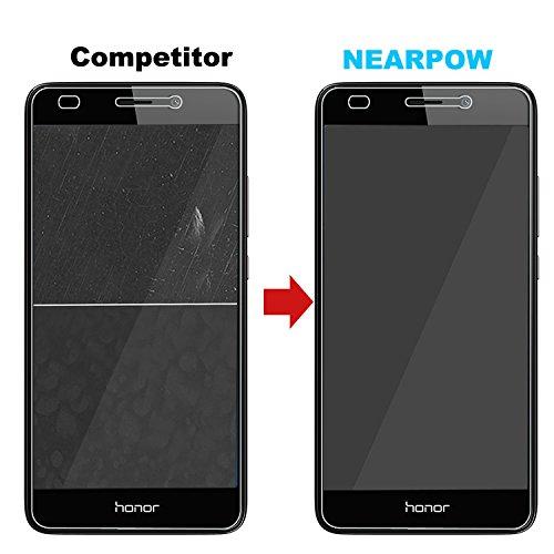 NEARPOW [3 Stück] Huawei Honor 5C Panzerglas Displayschutzfolie, Schutzfolie 9H Härte, Anti-Kratzen, Anti-Öl, Anti-Bläschen, Anti-Fingerabdruck - 5