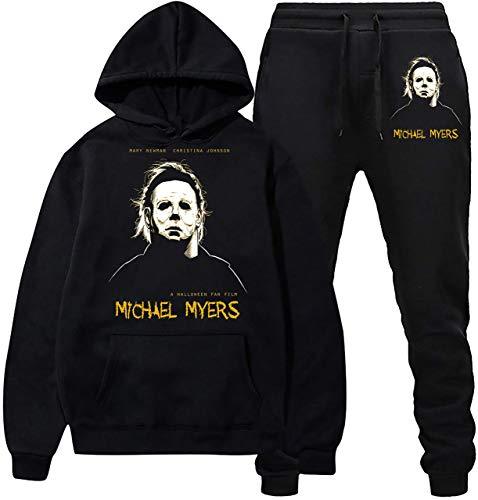 Cool Michael M-yers sudadera con capucha y pantalones de deporte traje de...