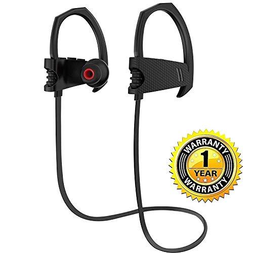 Buy Bluetooth Headphones, V4.1 Stereo Earphones,6 Hours,Noise Cancelling,Sweat Proof Earphones Sport...