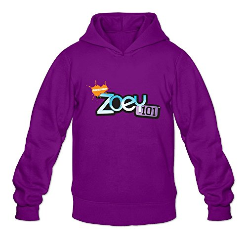 Zoey 101 Logo Unique Purple Long Sleeve Sweatshirt For Men Size XL