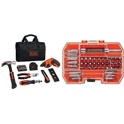 BLACK+DECKER 4V Cordless Screwdriver & Home Tool Kit, 42 Piece (BDCS20PK)