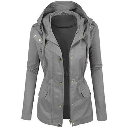 LIMITA Damen Winter modische einfarbige Kurze Blusen Revers Motorradjacke Lederjacke Damen-Softshell-Jacke mit Kapuze, Übergangsjacke