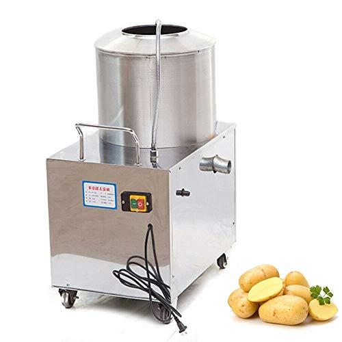 Electric Potato Peeler, 110V 1500W Commercial Electric Sweet Potato Peeling Machine Stainless Steel Fully Automatic Potato Taro Washer - 15-20 kg/times (Sand Inner)