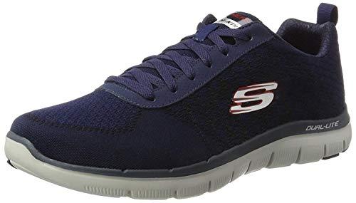 Skechers Skechers Herren Flex Advantage 2.0Golden Point Sneakers, Blau (NVRD), 45 EU