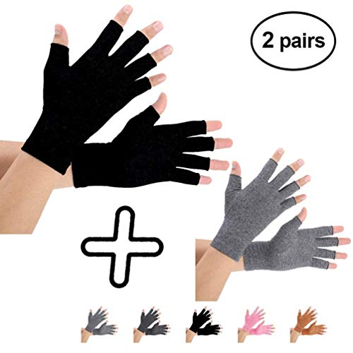 Brace Master Arthritis Gloves 2 Pairs, Compression Gloves Support and Warmth for...