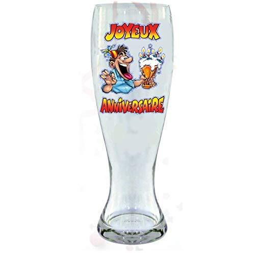 Verre à bière - Joyeux Anniversaire 29 cm