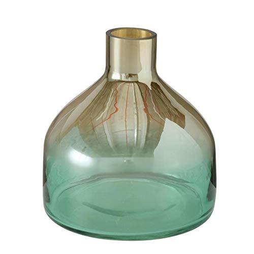 Moderno jarrón decorativo de cristal, 19 cm de alto, 18 cm de...