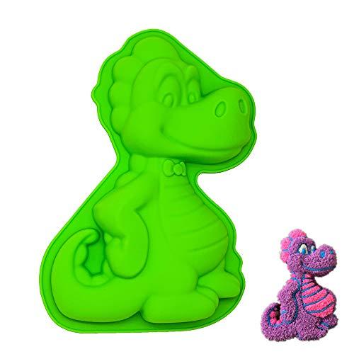 KeepingcooX Silikon-Form für Tiere, sehr süß, Silikon, Green, Dinosaur, 24.5 x 16 x 4 cm