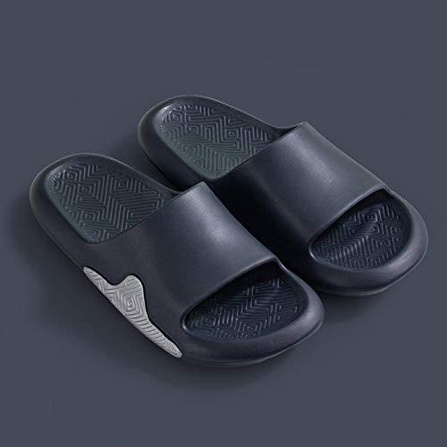 Ririhong 2021 Nuevas Sandalias y Zapatillas para Hombres, hogar de Verano, Suela Gruesa, Parejas Interiores, Mudo, Suela Gruesa, Ropa Exterior, Chanclas-Dark_Gray_40-41