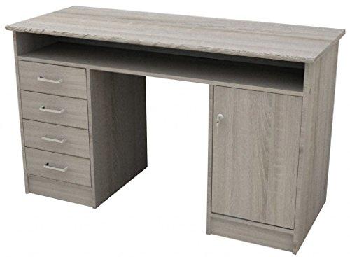 Tvilum Function Plus Schreibtisch, Holzwerkstoff, weiß, 126 x 55 x 75,6