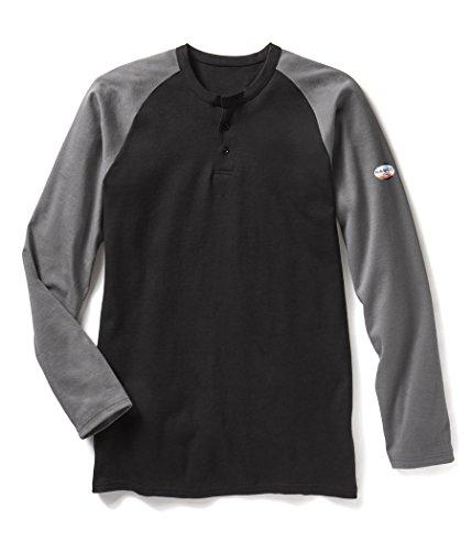 Rasco FR Gray/Black Two Tone Henley T-Shirt