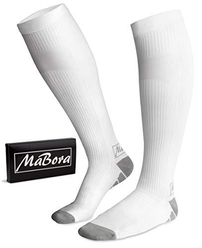 MaBora Kompressionsstrümpfe (Weiß, L/XL)
