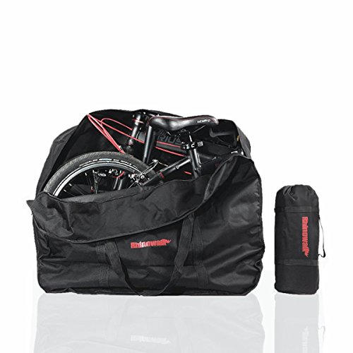 AMOMO Folding Bike Bag 14 inch to 20 inch Bicycle Travel Carrier Case Box Carry Bag Pouch Bike Transport Case (Black)