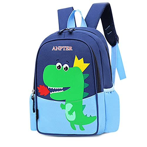 Kindergartenrucksack Kleiner Kinderrucksack Kindertasche Kindergarten Kinder Rucksack Animal Schule Tasche Cartoon Backpack für Kinder Baby Jungen Mädchen Kleinkind 2-6Jährige (Blau Kinderrucksack)