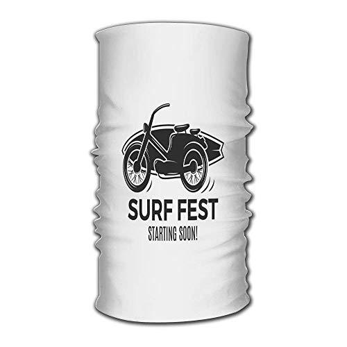 Lmtt Unisex Stylish Vintage Surfen Retro Surf Fest Emblem Web Surfer Schnelle trockene Kopfbedeckung Outdoor Magic Bandana Stirnband