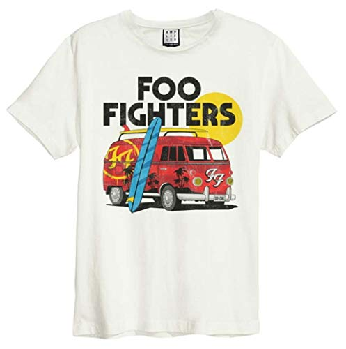 Amplified Clothing Foo Fighters 'Camper Van' (Natural) T-Shirt (XX-Large)