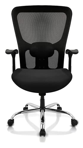 SAVYA HOME APEX CHAIRS Plastic Beatle Nylon Base Medium Back Office Chair, Standard, Black