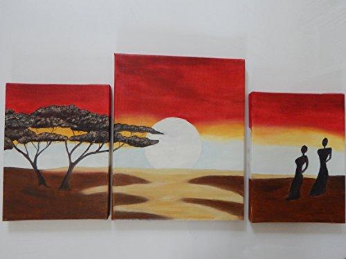 3 teilges Wandbild' Afrika'