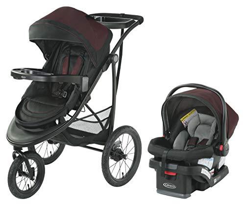 Graco Modes Jogger SE Travel System   Includes Modes Jogging Stroller and SnugRide SnugLock 30 Infant Car Seat, Blackweave