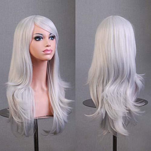 ZZXXMM Die Neue Anime Cosplay Lange Lockiges Haar 70cm Lange Lockige Haarfarbe Rosa Universal Weibliche Haarvolumen (Color : Red)