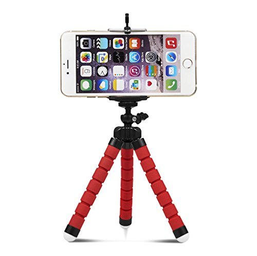 Flexible Tripod Mini Universal Octopus Leg Style Portable and Adjustable Tripod Stand with Clip Bracket Mount Holder for Mobile Phone, Cellphone, Smartphone, Digital Camera