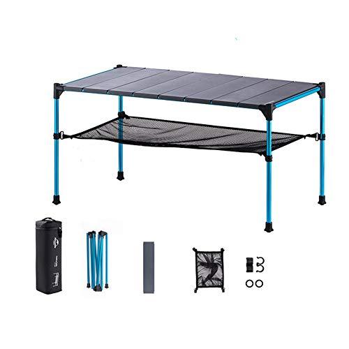 Naturehike Tentock Outdoor-Klapptisch, tragbar, zusammenklappbar, ultraleicht, Aluminium, ausziehbar, Campingtisch mit Aufbewahrungsschicht für Familien-Picknick, Größe L