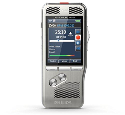 Philips DPM 8100 Pocket Memo Digitales Diktiergerät, Schiebeschalter