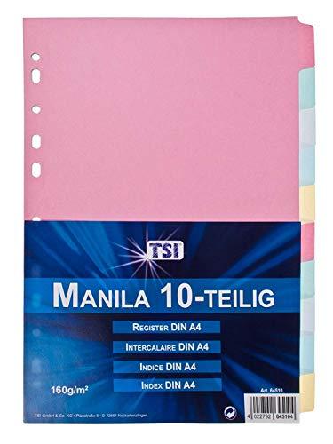 TSI 64510 Register aus stabilem Manila-Karton 10-teilig, Taben (2)