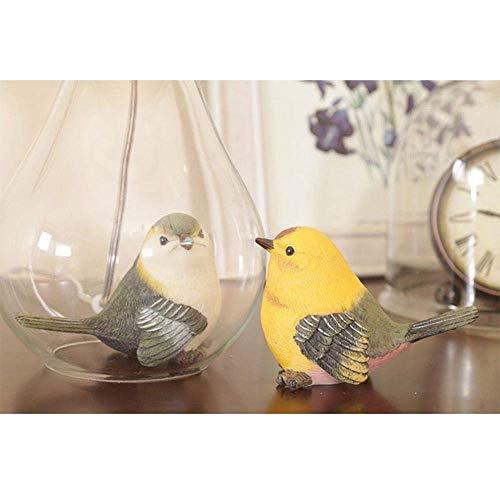 DEJ Glazen Vaas Led Bureaulamp, Bloem Led Nachtlampje met Hydrangea, Paar Vogels binnenkant van Glazen Lamp Lichaam voor Decoratie, Geschenk, Bedkant, Valentijnsdag