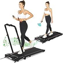 Fynllur 2-in-1 Treadmill,Under Desk Folding Treadmills for Home, Mini Walking Treadmill 2.0HP Power 7.45 MPH Max Speed, Bluetooth Speaker, APP Control,12 Program Cardio Running Machine