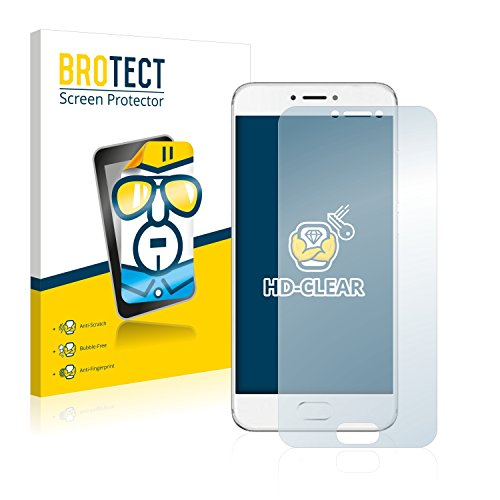 BROTECT Schutzfolie kompatibel mit Meizu Pro 6 (2 Stück) klare Bildschirmschutz-Folie