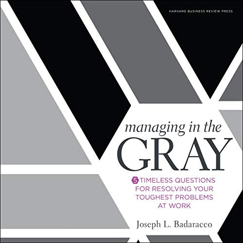 『Managing in the Gray』のカバーアート