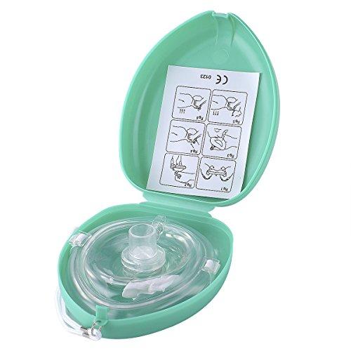Aurelius Tasche CPR Maske für Erste-Hilfe-Wiederbelebung Gesichtsmaske, Single Use mit CE & ISO genehmigt (Green Box)