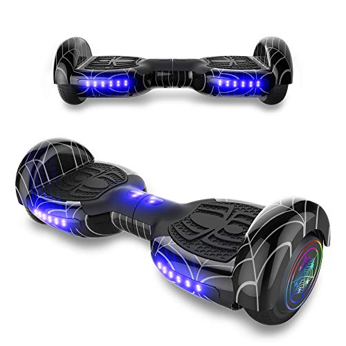 TPS 8.5' All Terrain Off Road Edition Hoverboard Self Balancing Scooter with LED Light and Wireless Speaker - UL2272 Certified (Black)