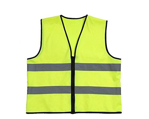 Lantra Besa Damen Herren Sicherheitsweste Warnweste für Radfahren und Joggen mit Reißverschluss Hohe Sichtbarkeit Gelb AR0011 - Europäische Größe M