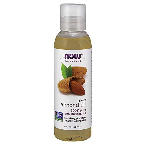 NOW Solutions Sweet Almond Oil 100% Pure Moisturizing Oil Promotes HealthyLooking Skin Unscented Oil 4Ounce
