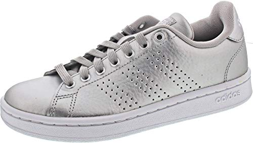 adidas Advantage, Zapatillas de Tenis Mujer, Argent Mat Blanc Gris, 37 1/3 EU