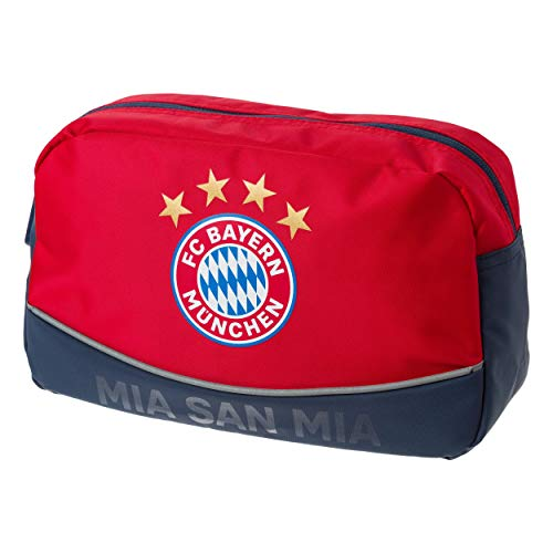 FC Bayern München Kulturbeutel / Waschtasche / Tasche rot mit Logo FCB - plus gratis...