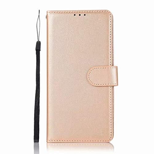 For Xiaomi Poco M3 Case Premium Leather Shockproof Wallet Book Design Magnetic Closure Flip Folio Stand View Full Protection Cover compatible with Xiaomi Poco M3 Phone Case Golden