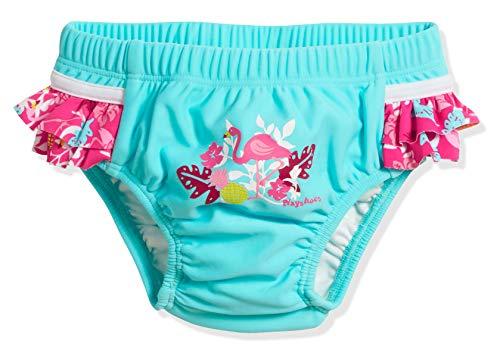 Playshoes UV-Schutz Windelhose Flamingo Couche Culotte De Bain, Turquoise (Türkis 15), 86 (Taille Fabricant: 86/92) Bébé Fille
