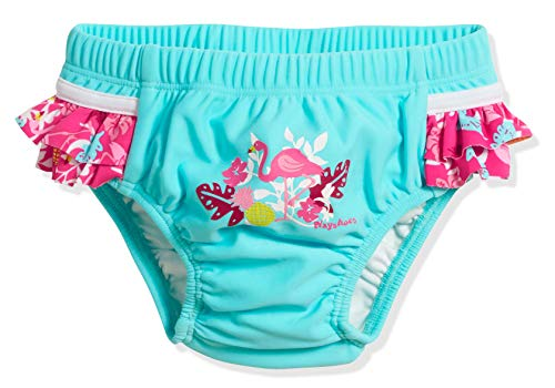 Playshoes UV-Schutz Windelhose Flamingo Costume-Pannolino, Turchese (Türkis 15), 74 (Taglia Produttore: 74/80) Bimba
